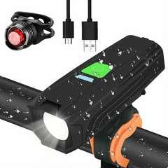 Cypin 自転車 ライト USB 充電 リフレクター ヘッドライト