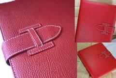 iPad air2 赤 レザーケース カバー 多機能 保護フィルム&ペン付
