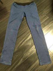 デニンス 美品 ウエストゴムジーンズズボン GU 女性用インディゴ