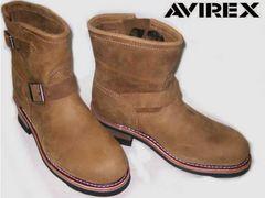 AVIREXアビレックス新品ショート エンジニア ブーツ2225茶us7.5