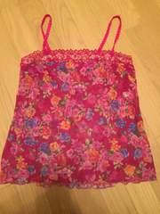 ワコール Wacoal 花柄 ビビットピンク キャミソール