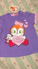 新品アンパンマン半袖 Tシャツ定価\1620ドキンちゃん袖 フリル