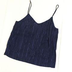 H&Mプリーツキャミソール ブルー