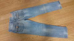 H&M女の子デニムパンツ128ブルー美品
