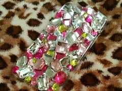 iPhone5/5s デコケース ビジュー ピンク
