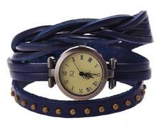 ファッション ウォッチ 時計 腕時計 紺 本革 ブレスレット