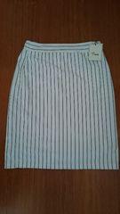 新品 白スカート Mサイズ 裏生地付き ストライプ