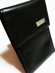 新品ゴールドファイル/GOLD PFEIL革製カードケース黒