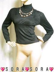 【DIVAS】2連ネックレス付♪胸元刺繍TPブラック