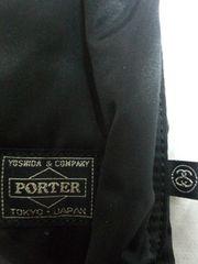 新品STUSSY×PORTER helmet bag TANKER黒 2WAYショルダー&トート