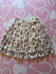 花柄レース スカート