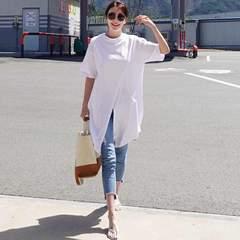 Y58即決 新品 ロング Tシャツ 白 XXL EMODA リエンダ GU セシル 好きに