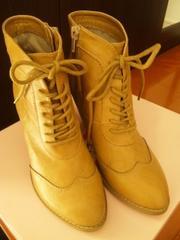 新品★靴  Betty Club 編み上げ ショートブーツ ベージュL