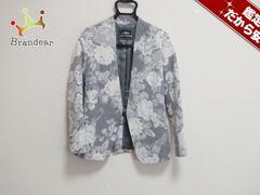 グレースコンチネンタル ジャケット36 レディース 白×グレー 花柄