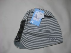 wb825 ROXY ロキシー 薄手 スウェットニット帽 ボーダー