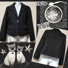 【新品】装飾ボタン☆フエルト素材カットオフジャケット