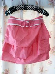 ウィルセレクション WILLSELECTION ひらひらスカート ベルト付き ピンク 未使用