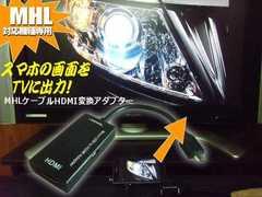 MHL⇒HDMI変換出力アダプターケーブル/スマホ画面をテレビに映す