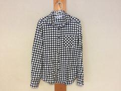 メンズ☆ユナイテッドアローズ ブロックチェックシャツ 白×黒 M
