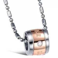 14Kピンクゴールド鍍金 ダイヤLOVEリングネックレス
