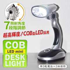 驚異の大光量!COB型LED スタンドフラッシュライト デスクライト