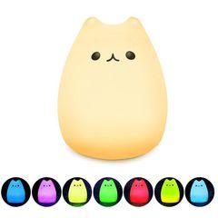 猫ランプ デスクライト 多色変更  3モード点灯 USB充電