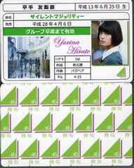 平手友梨奈 サイレントマジョリティー 免許証カード 欅坂46