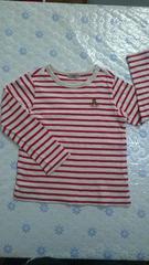 ミキハウス シンプルなボーダーTシャツ 120