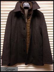 新品 3.5万☆ ティノラス レイヤード ステンカラーコート Mサイズ