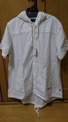 ドラッグストアーズタグ付きパーカーシャツミルク7900円+税フリーサイズ
