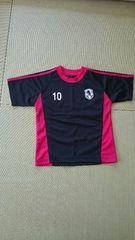 サッカー Tシャツ★ブラック×レッド★120