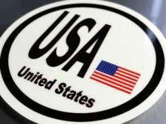○円形 アメリカ国旗ステッカーUSA アメリカン星条旗シール