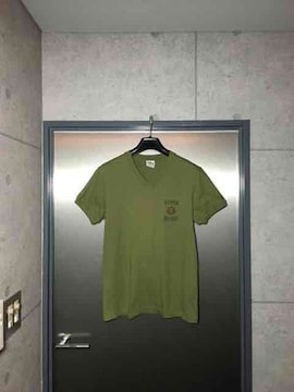 TMTティーエムティー/ラインストーン付プリントTシャツ/L