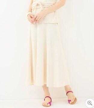 新品タグ付き Spick&Span オールドコットリブフレアースカート