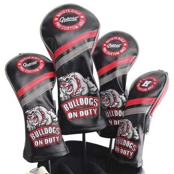 ゴルフヘッドカバー Bulldogs-Black