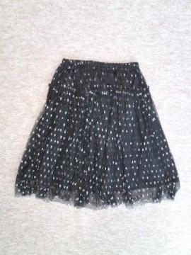 ☆インデックスafterallシルバードット黒ペチコートスカート新品