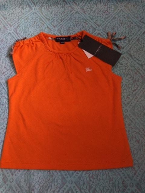 新品 Burberry 女の子100Aサイズ フレンチスリーブ Tシャツ