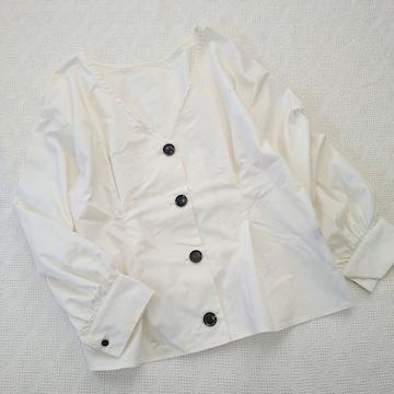 apart by lowrys/ざっくり4つボタンのシャツプルオーバー/美品