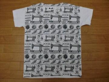 ヴィンテージ ミシン 説明図 Tシャツ 白 M