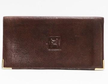 セリーヌ 長財布 札入れ 型押しレザーヴィンテージ良品 正規