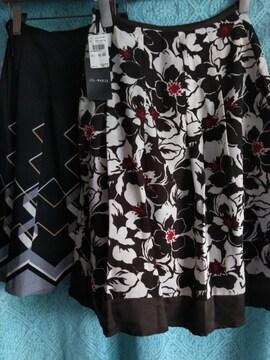 新品レディースウエスト61サイズ JIL -MARIEひざ下丈フレアスカート等2点夏物