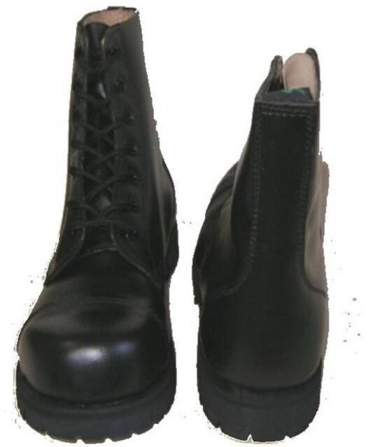 ゲッタグリップおでこ靴7ホール ブーツ新品7507BLスチール入uk10 < 男性ファッションの