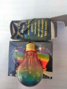 レインボー電球 3個