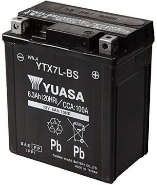 シールド型 バイク用バッテリー YTX7L-BS