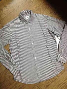美品TAKEO KIKUCHI ストライプシャツ 日本製 タケオキクチ