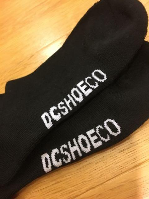 DC   DCSHOE   靴下  3足セット  黒ブラック  25~27cm < 男性ファッションの