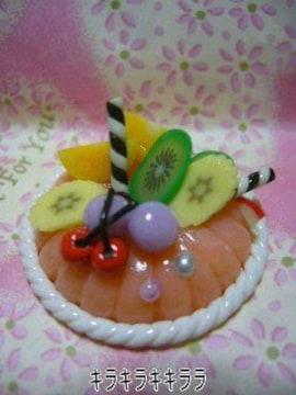 デコ*ホールケーキ<樹脂粘土>フルーツたっぷりケーキ