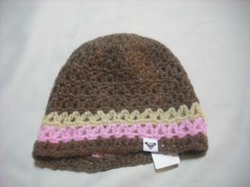 wb226 ROXY ロキシー ニット帽 ブラウン