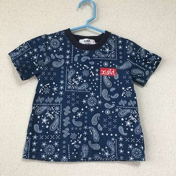エックスガールステージス バンダナ柄Tシャツ 100cm xgirl
