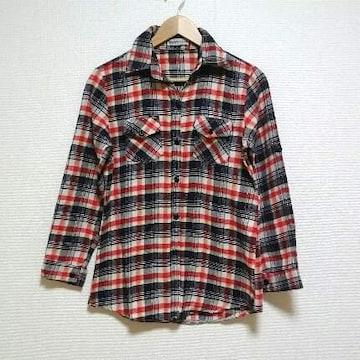 即決!! SALE!! 2way 厚手 あったか チェックシャツ